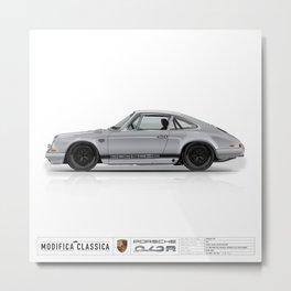 1967 Porsche 912R Kevin Lynch SILVER BLACK FUCHS Metal Print