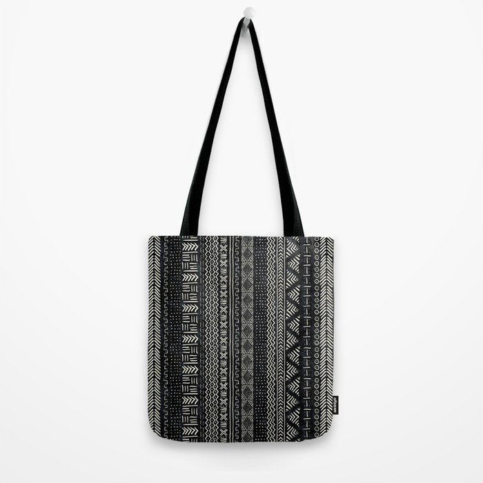 Mud Cloth Stripe Tote Bag