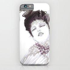 Purple dramatic fashion illustration iPhone 6s Slim Case