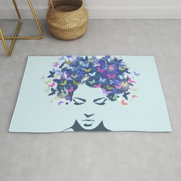 Woman Butterfly Rug
