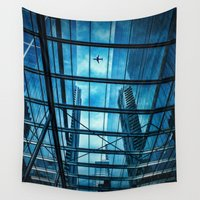 plane Wall Tapestries featuring The Plane by Ewan Arnolda
