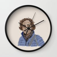 lucy Wall Clocks featuring Lucy by Carly Sunlit