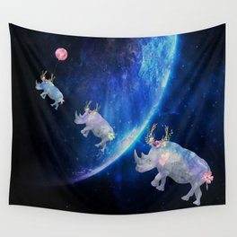 Rhinos Journey Reaching For The Stars Wall Tapestry