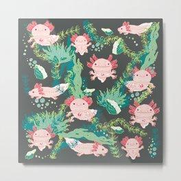 Baby Axolotl Metal Print