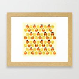 Dotty Pineapples II - Singapore Tropical Fruits Series Framed Art Print