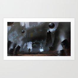 Mercury Mining Art Print