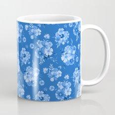 Breathe // Blue Floral Repeat Mug