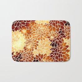 Space Dahlias Golden Bronze Bath Mat
