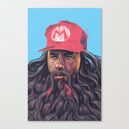 Forrest Gump with Marios Cap Canvas Print