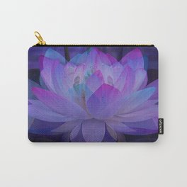 The Lotus in blue... Carry-All Pouch