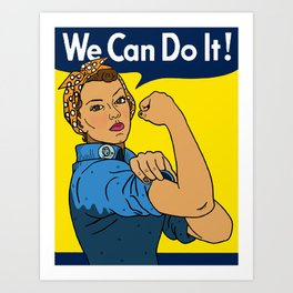 Latina Rosie The Riveter Art Print