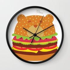 Oso Hamburguesa (Burger Bear) Wall Clock
