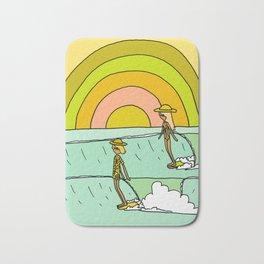 follow the light rainbow sunrise daydream hang 10 Bath Mat
