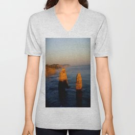 Glowing Rock Stacks Unisex V-Neck