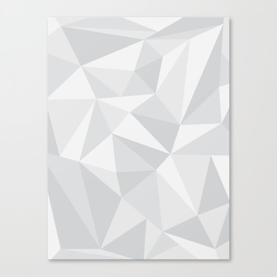 White Deconstruction Canvas Print