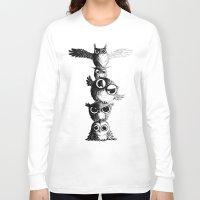 totem Long Sleeve T-shirts featuring Totem by Det Tidkun