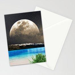 Aloe Vera Moon Beach Stationery Cards