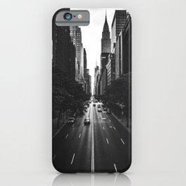 New York City (Black and White) iPhone Case