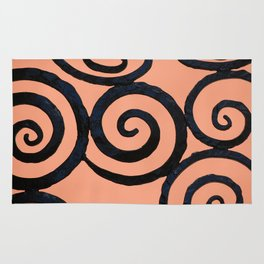 Iron Spirals in Pumpkin Rug