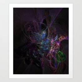 Cosmic Dream Catcher Art Print