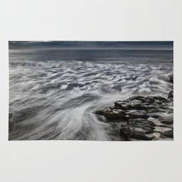 Storm Drama at Swami's Reef, Encinitas, California Rug