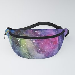 Galaxy Watercolor Night Sky Painting Nebula Art Fanny Pack
