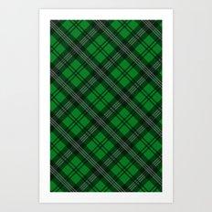 Scottish Plaid (Tartan) - Green Art Print