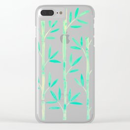 Bamboo Stems – Mint Palette Clear iPhone Case