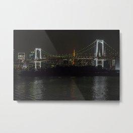 Night Reflections from Odaiba Metal Print