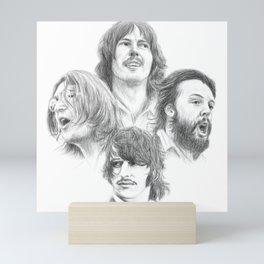 John, Paul, George & Ringo Mini Art Print