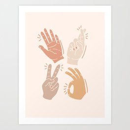 I Don't Know What to Do With My Hands Art Print