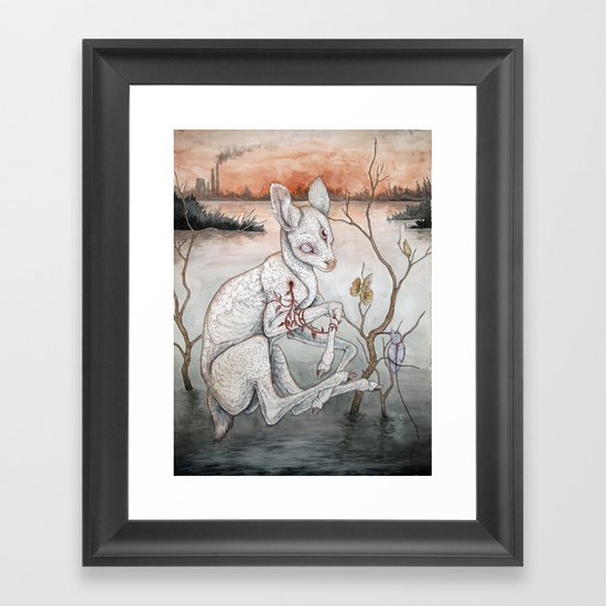 Ghosts From The Flood Plain Framed Art Print