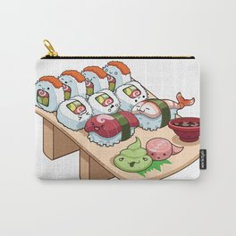 Kawaii California Roll and Sushi Shrimp and Tuna Nigiri Carry-All Pouch