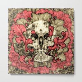 Tattooed Skull Metal Print