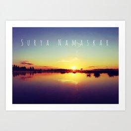 Surya Namaskar II Art Print