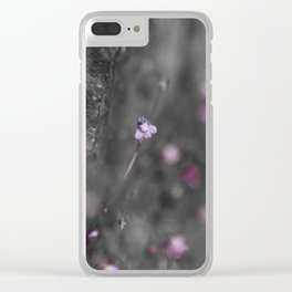 Flower on the Rocks Clear iPhone Case