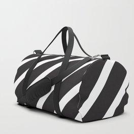 Black diagonal lines pattern Duffle Bag
