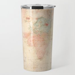 Another Vintage World Map Travel Mug