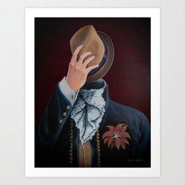Faceless Self Portrait Art Print