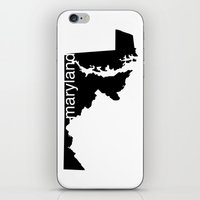 maryland iPhone & iPod Skins featuring Maryland by Isabel Moreno-Garcia
