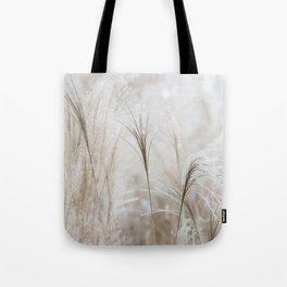 Light Neutral Soft Ornamental Grasses Tote Bag