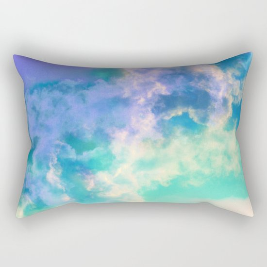 Mountain Meadow Painted Clouds Rectangular Pillow