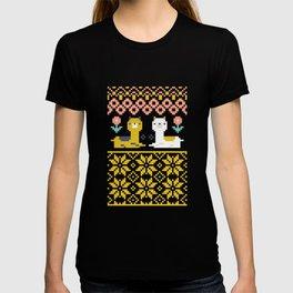 Fair Isle Christmas Alpaca Pattern T-shirt