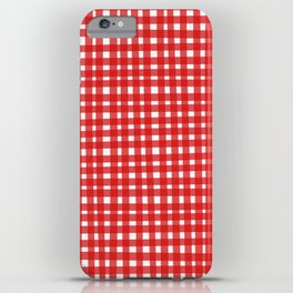 Red Gingham iPhone Case