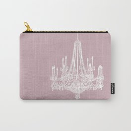 Chic White and Pink Chandelier   Carry-All Pouch