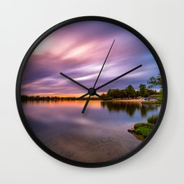 Eagle Lake Sunset - image 5 Wall Clock