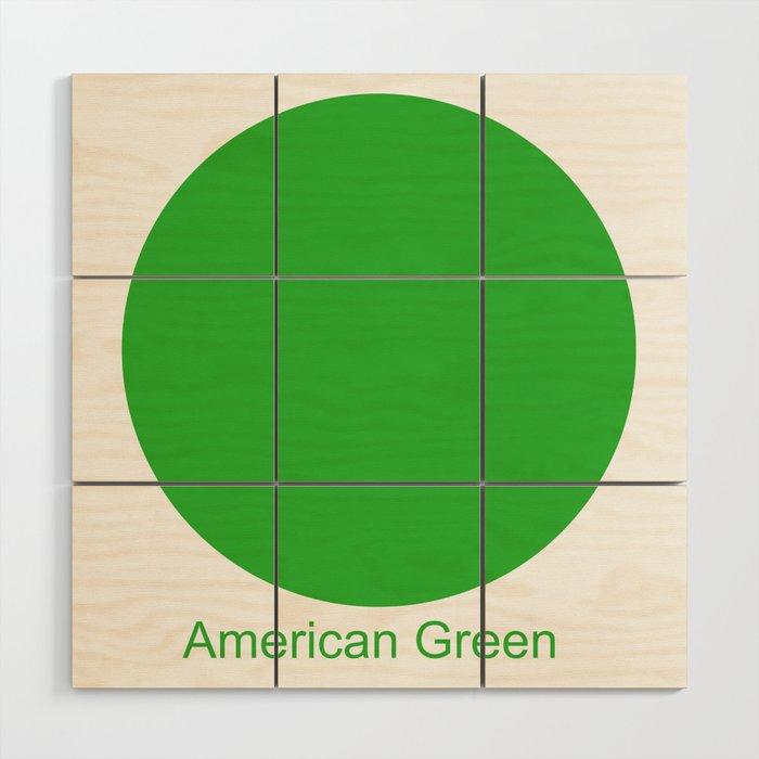 American Green Wood Wall Art