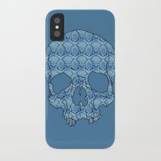 Vintage blue skull Slim Case iPhone X