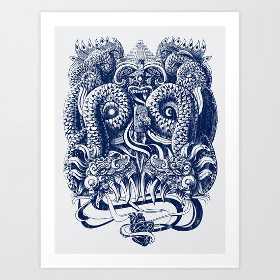 Tlaloc Art Print