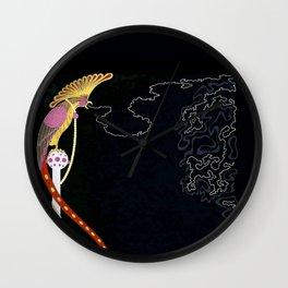 "Art Deco Design ""Enchanted Melody"" by Erté Wall Clock"